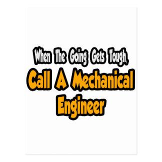 Call a Mechanical Engineer Postcard