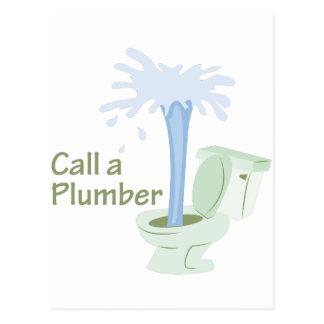 Call A Plumber Postcard