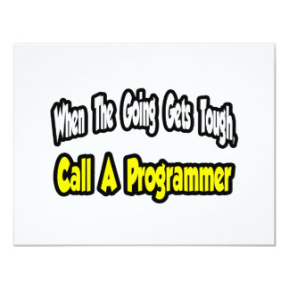 Call a Programmer Custom Invites