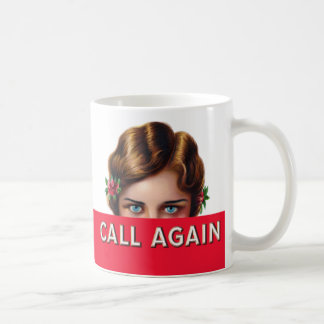Call Again Cigar Box Label Coffee Mug