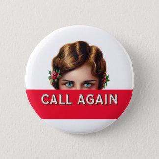 Call Again Cigar Label Pinback Button