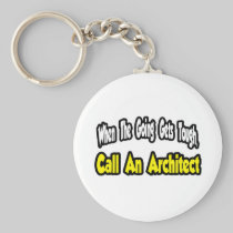 Call an Architect Basic Round Button Keychain