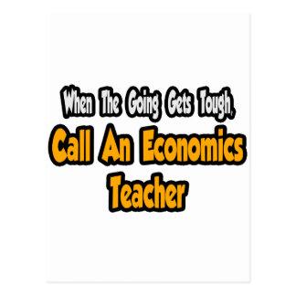 Call an Economics Teacher Postcard