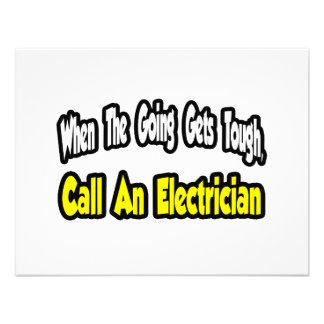 Call an Electrician Personalized Invite