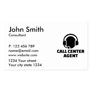 Call center agent business card