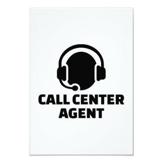 Call center agent card