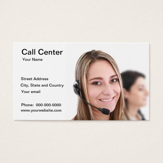Call Center Business Card