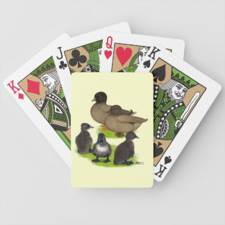 Call Duck Khaki Family Bicycle Playing Cards