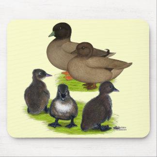 Call Duck Khaki Family Mouse Pad