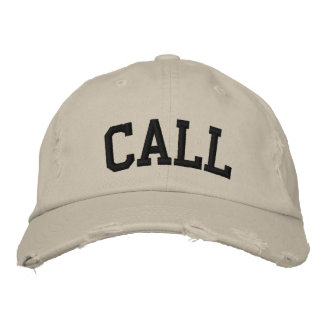 Call Embroidered Hat Baseball Cap