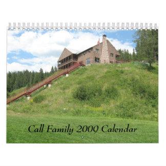 Call Family 2009 Calendar