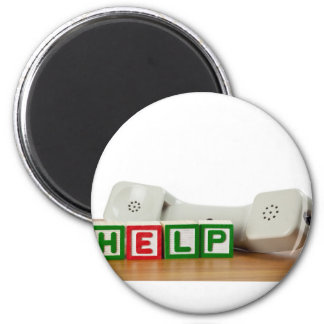 Call for help 2 inch round magnet