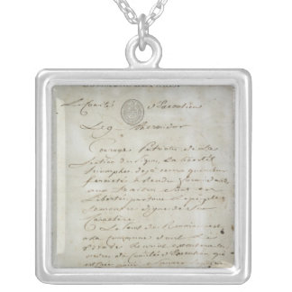 Call from Maximilien de Robespierre Square Pendant Necklace