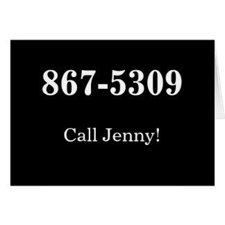 """""""Call Jenny phone number note card"""" Card"""