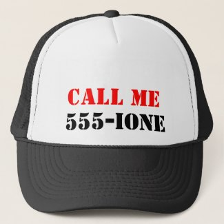 Call ME 555-Ione Trucker Hat
