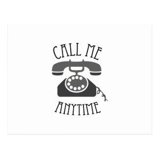 Call Me Anytime Post Card