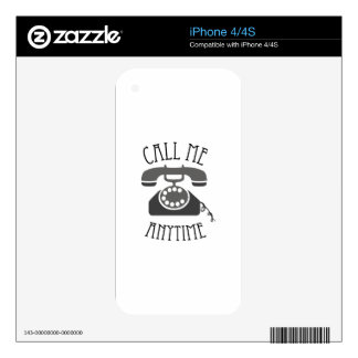 Call Me Anytime iPhone 4 Decal
