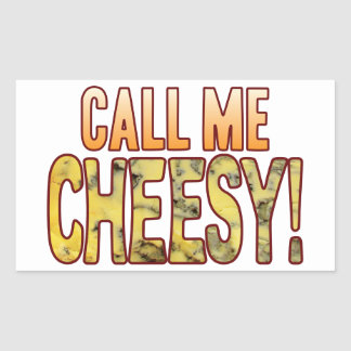 Call Me Blue Cheesy Rectangular Sticker