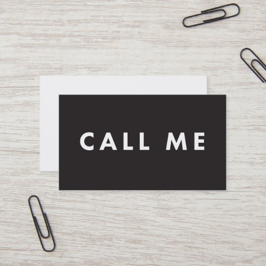 Call me bold modern networking business cards zazzle call me bold modern networking business cards reheart Gallery