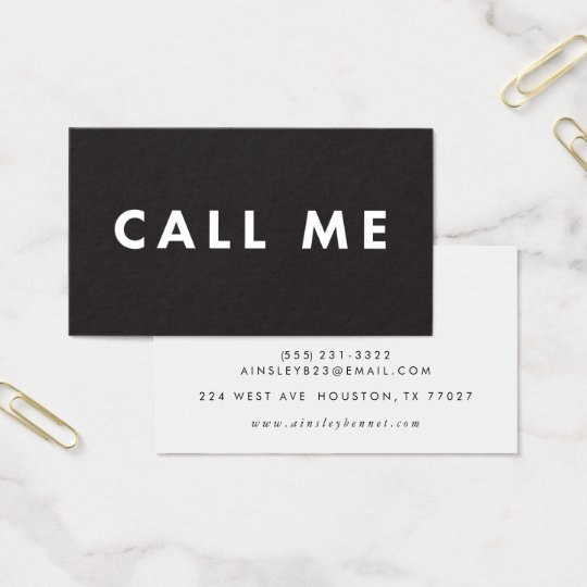 Call me bold modern networking business cards zazzle call me bold modern networking business cards reheart Image collections