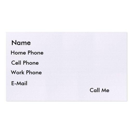 """""""Call Me"""" Card"""