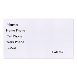 """Call Me"" Card Business Card"
