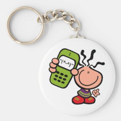 Call me cartoon Keychain