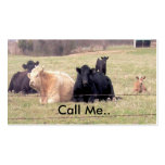 Call Me Cows Card Double-Sided Standard Business Cards (Pack Of 100)