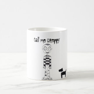 Call me creppy with bats, dog and boy coffee mug
