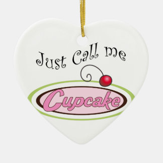 Call Me Cupcake Ceramic Ornament