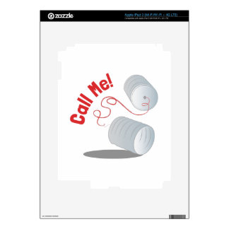 Call Me Decal For iPad 3