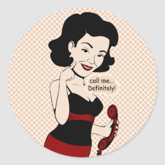 Call Me Definitley -Ms Victoria Crushmore Round Stickers