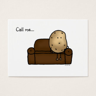 Call me...( funny couch potato ) business card