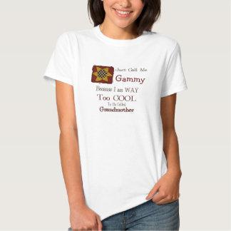 Call Me Gammy Cool Grandma T-shirt Prim Sunflower