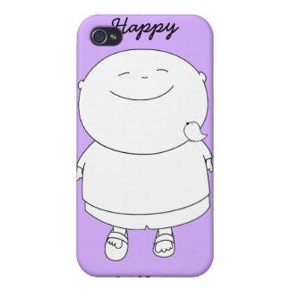 Call me Happy Boy iPhone4 case - Mauve
