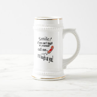 Call Me, I'll Laugh At You. Cynical and Very Funny Beer Stein