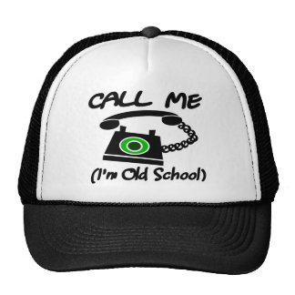 Call Me I m Old School With Retro Telephone Mesh Hats