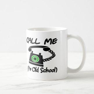 Call Me, I'm Old School With Retro Telephone Coffee Mug
