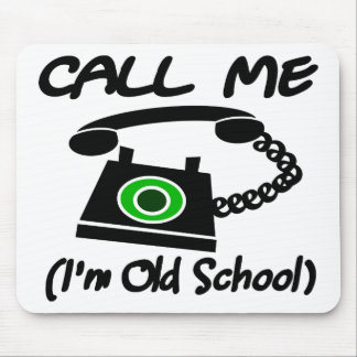 Call Me, I'm Old School With Retro Telephone Mouse Pad