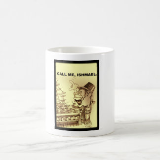 call me, ishmael (sepia) coffee mug