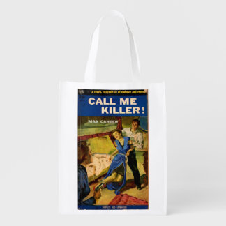Call Me Killer pulp fiction cover Market Tote