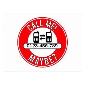 Call Me! Maybe? Postcard
