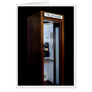 """""""CALL ME MAYBE"""" VINTAGE PHONE BOOTH URBAN PHOTOG CARD"""