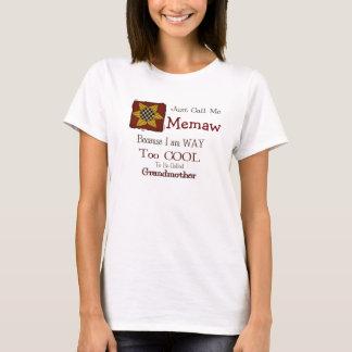 Call Me Memaw Cool Grandma T-shirt Prim Sunflower