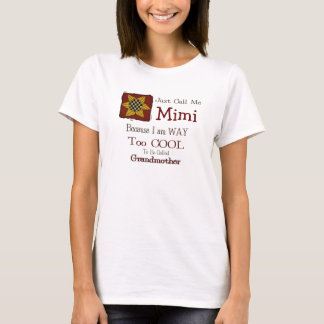 Call Me Mimi Cool Grandma T-shirt Prim Sunflower