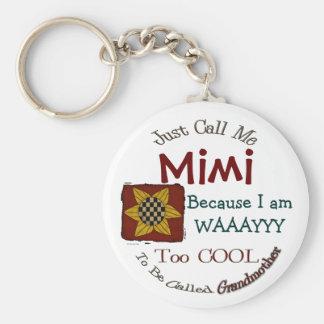 Call Me Mimi Grandma Keychain with Prim Sunflower