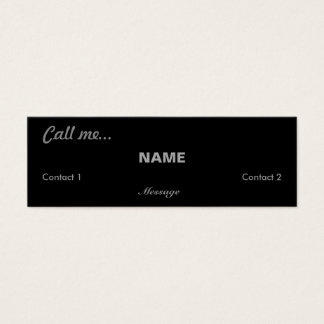 Call Me... Mini Business Card