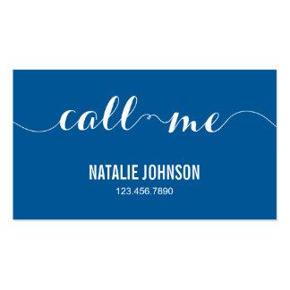 Call Me Modern Calling Card - Blue Business Card Templates