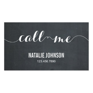 Call Me Modern Calling Card - Chalkboard Double-Sided Standard Business Cards (Pack Of 100)