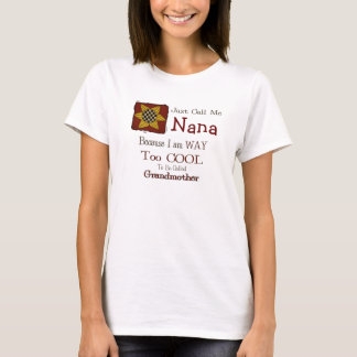Call Me Nana Cool Grandma T-shirt Prim Sunflower